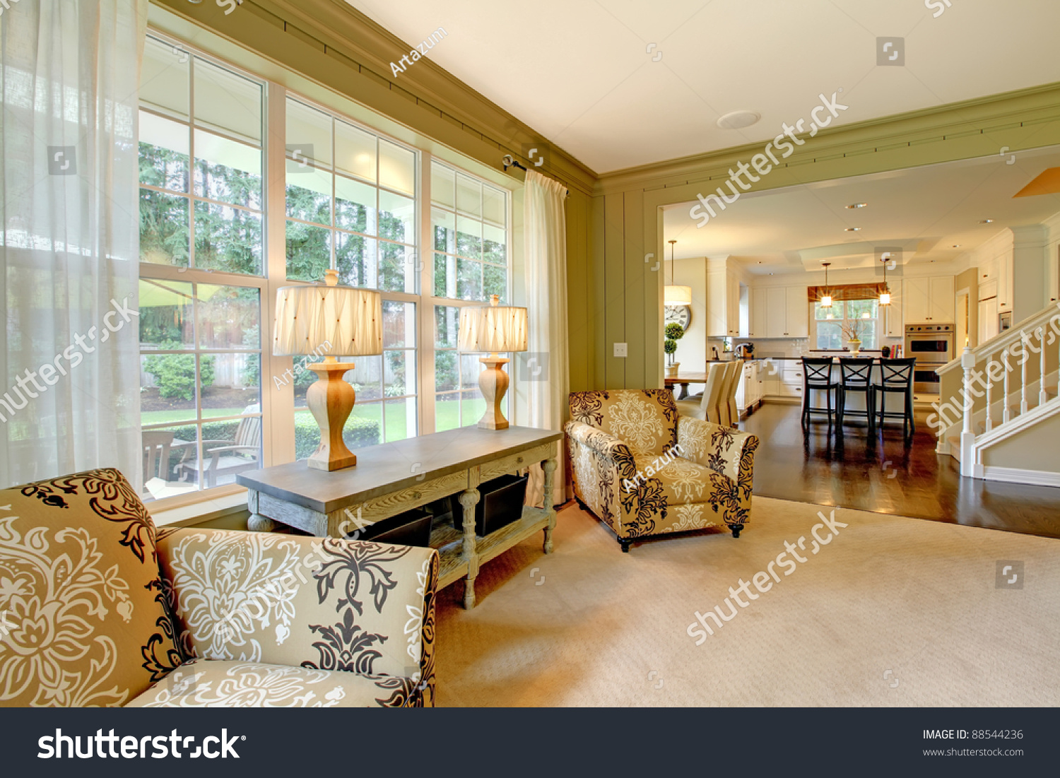 green cream living room luxury and green living room stock photo 13875