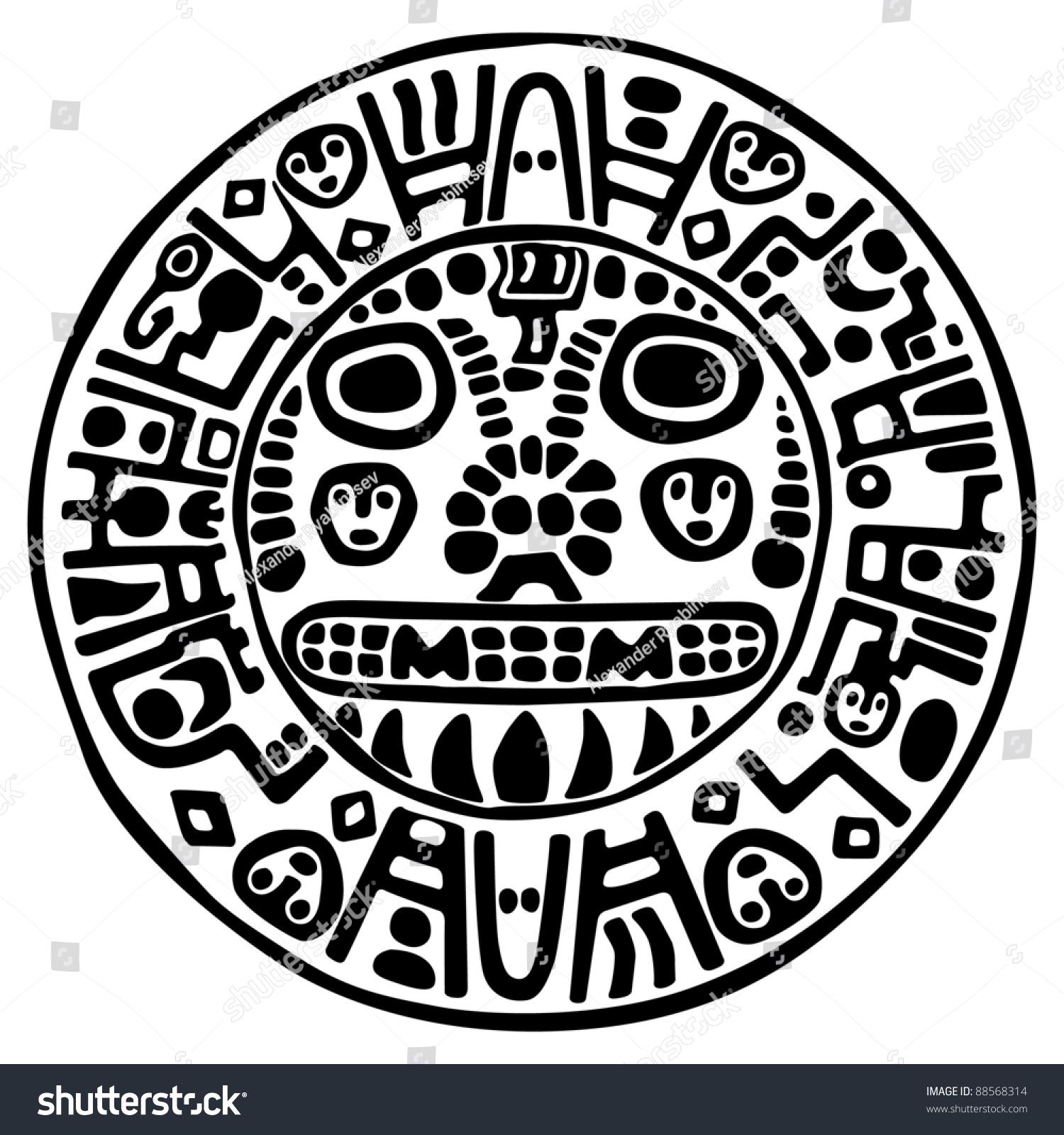 mayan symbols coloring pages - photo#16