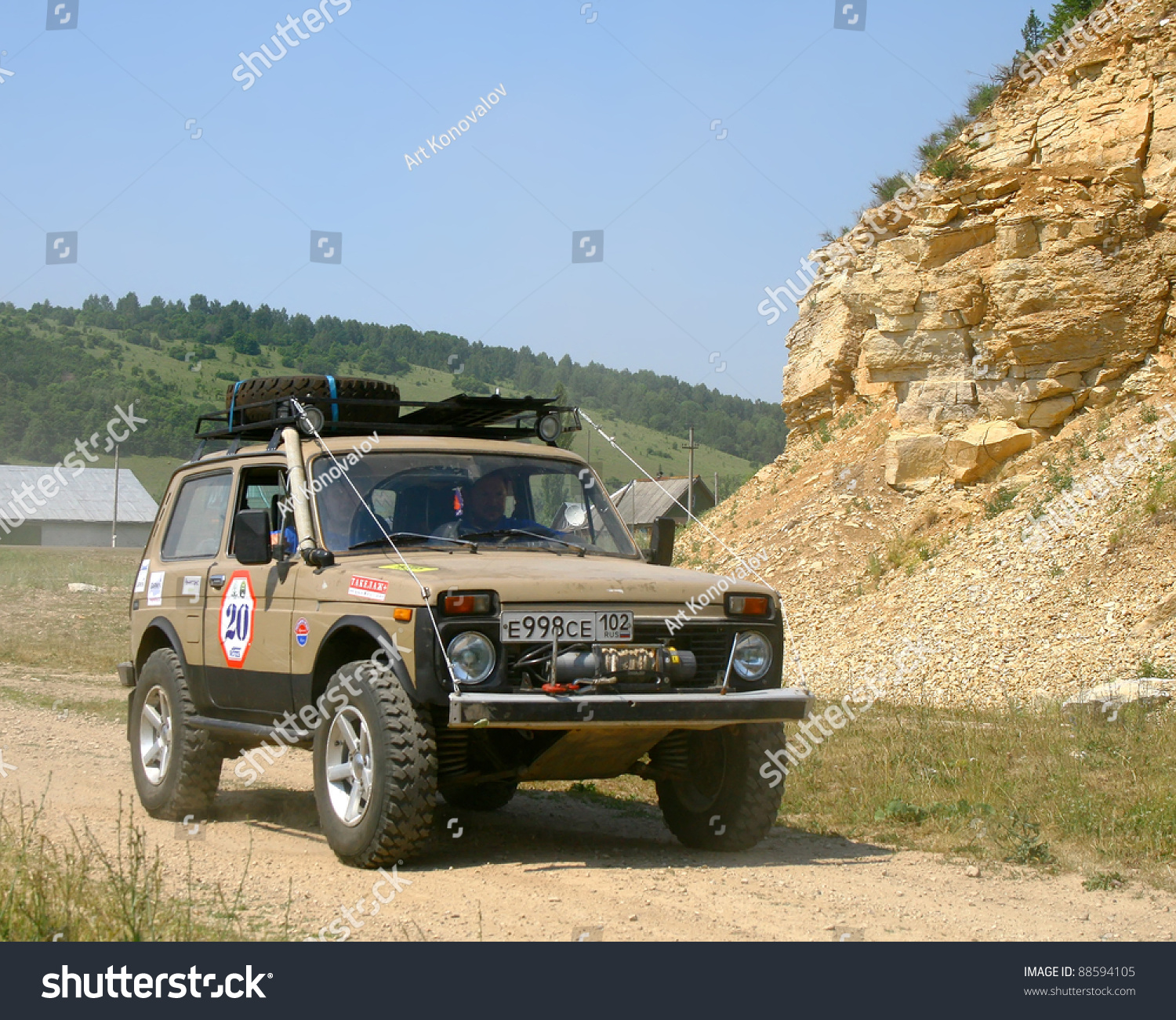 pavlovka russia june 26 offroad vehicle stock photo. Black Bedroom Furniture Sets. Home Design Ideas