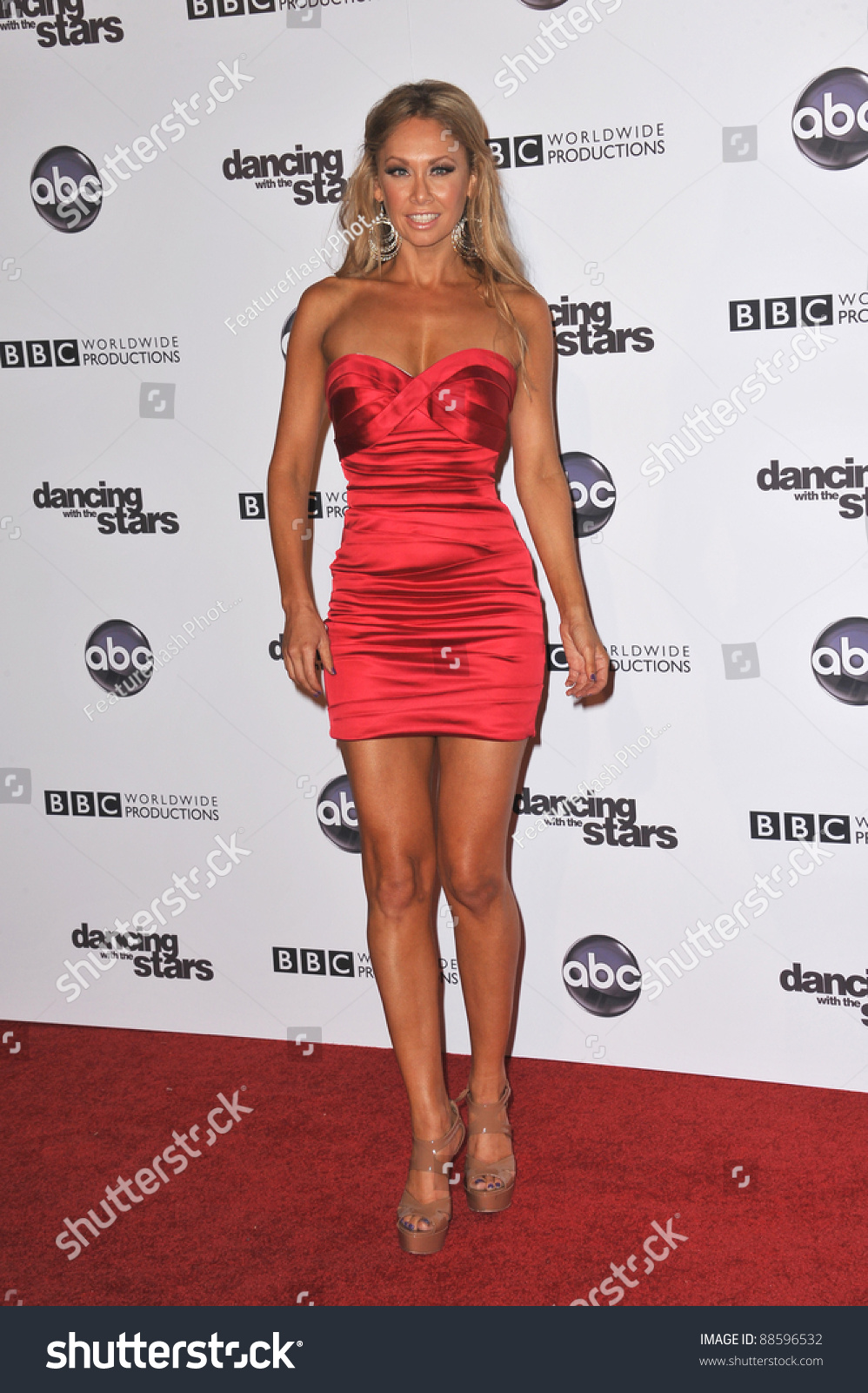 Kym Johnson Dancing With The Stars Married: Kym Johnson 200th Episode Party Dancing Stock Photo