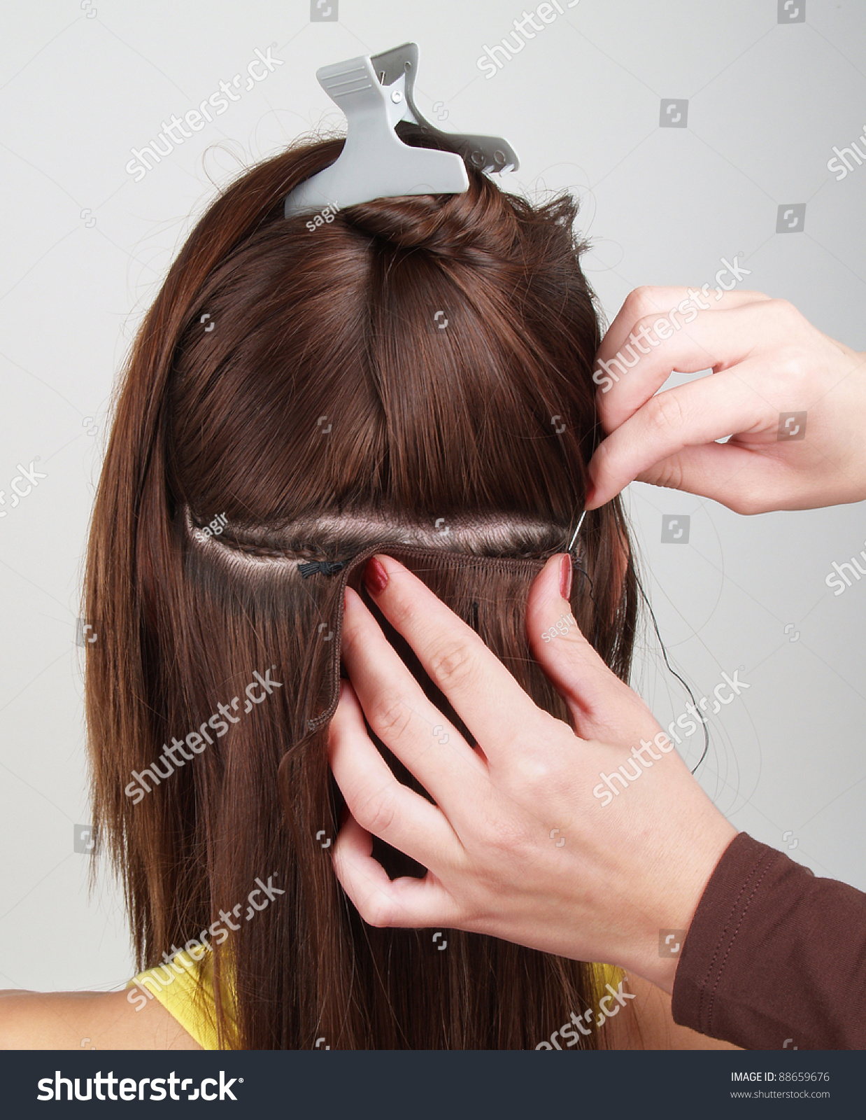 Hair Extensions Tress Stock Photo Royalty Free 88659676 Shutterstock