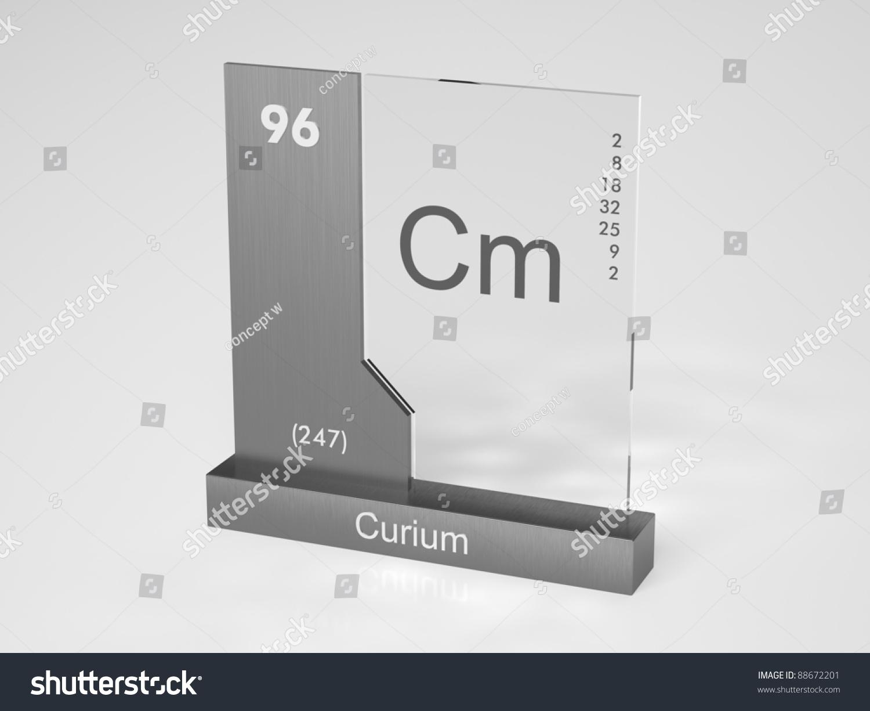 Curium Symbol Cm Chemical Element Periodic Stock Illustration