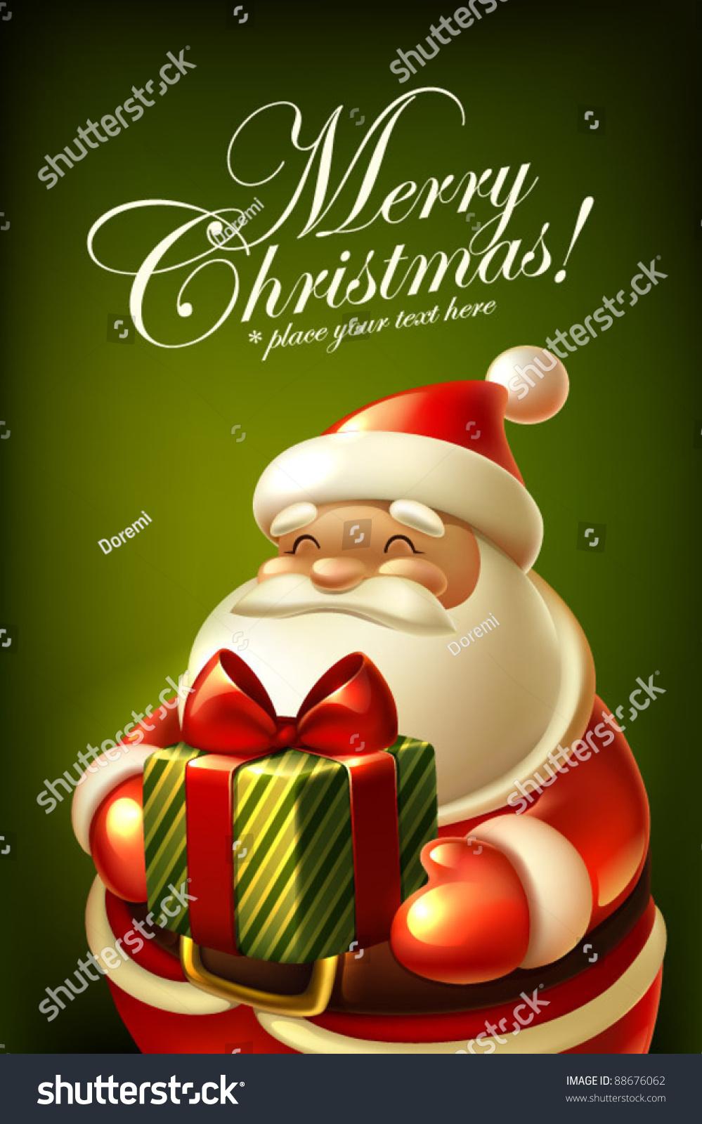Santa Claus Christmas Card Stock Vector (Royalty Free) 88676062 ...