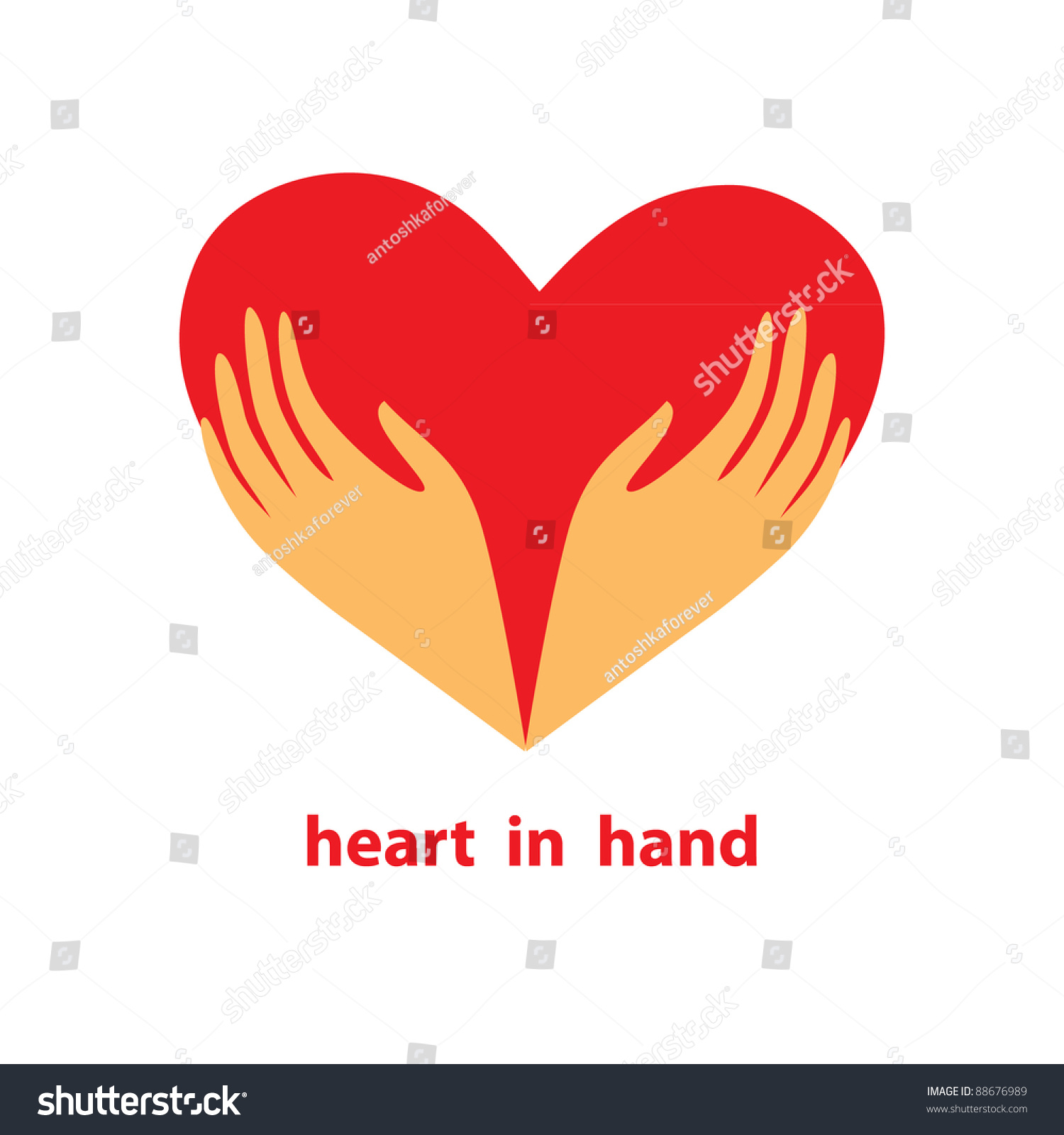 Template sign heart his hands symbol stock vector 88676989 template of the sign heart in his hands symbol love care buycottarizona