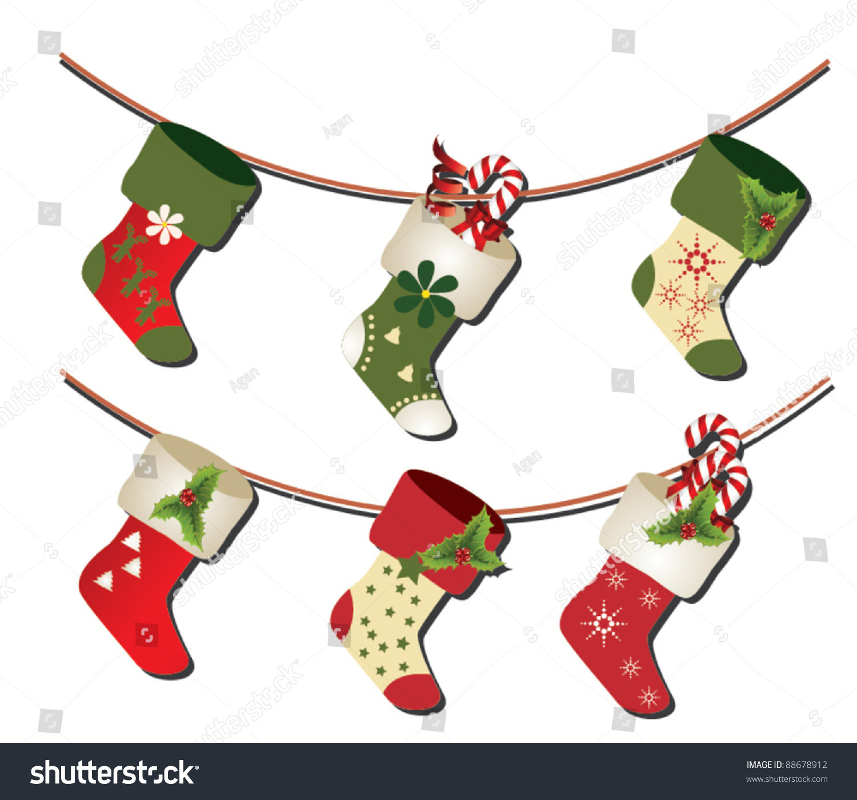 Christmas Stockings Clipart Free Stock Vector Christmas Socks Vector