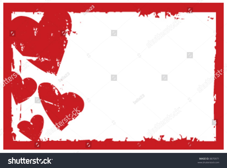 4 X 6 Vector Grunge Valentine Frame Stock Vector 8870971 - Shutterstock