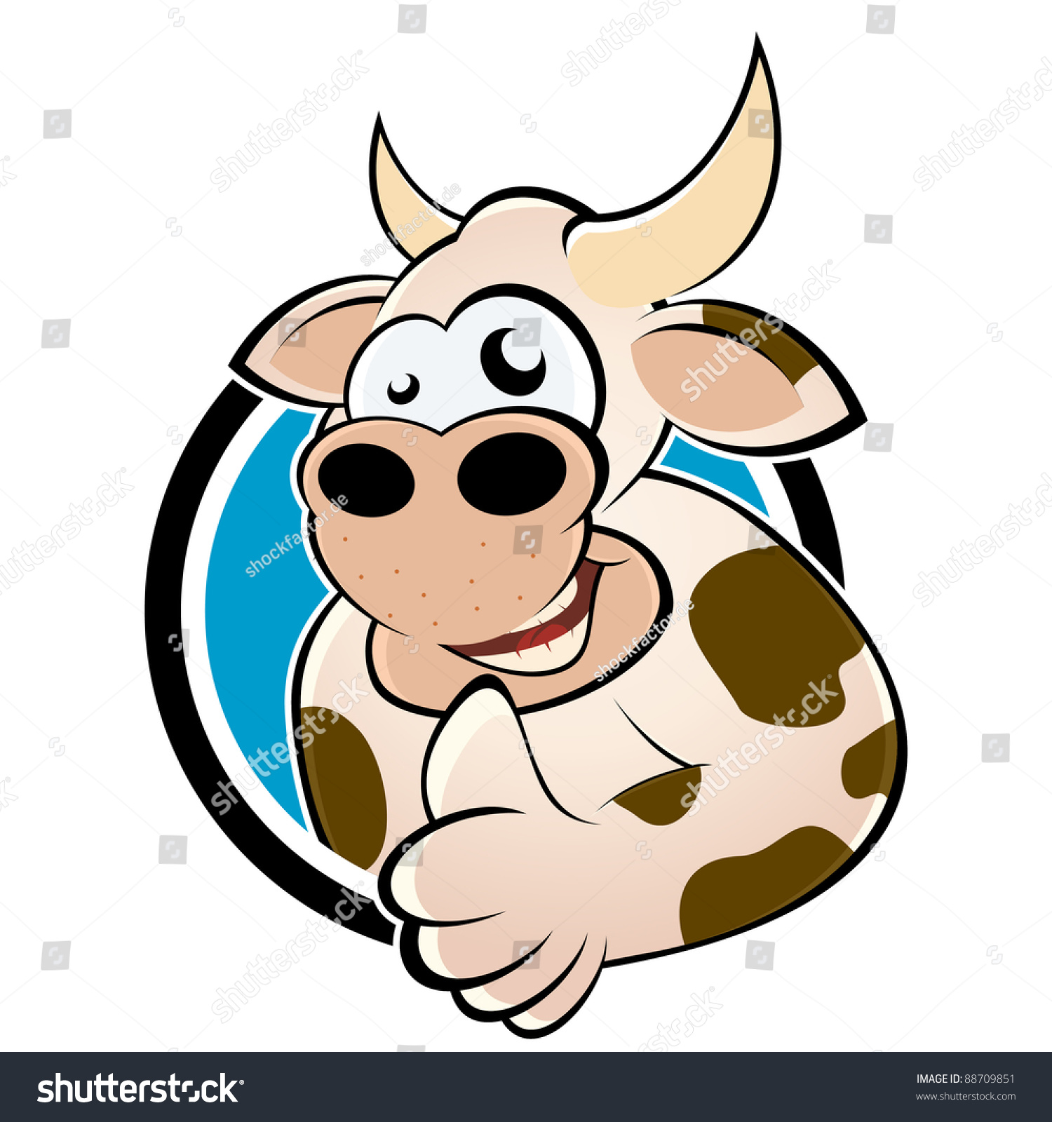 funny cartoon cow stock vector 88709851 shutterstock