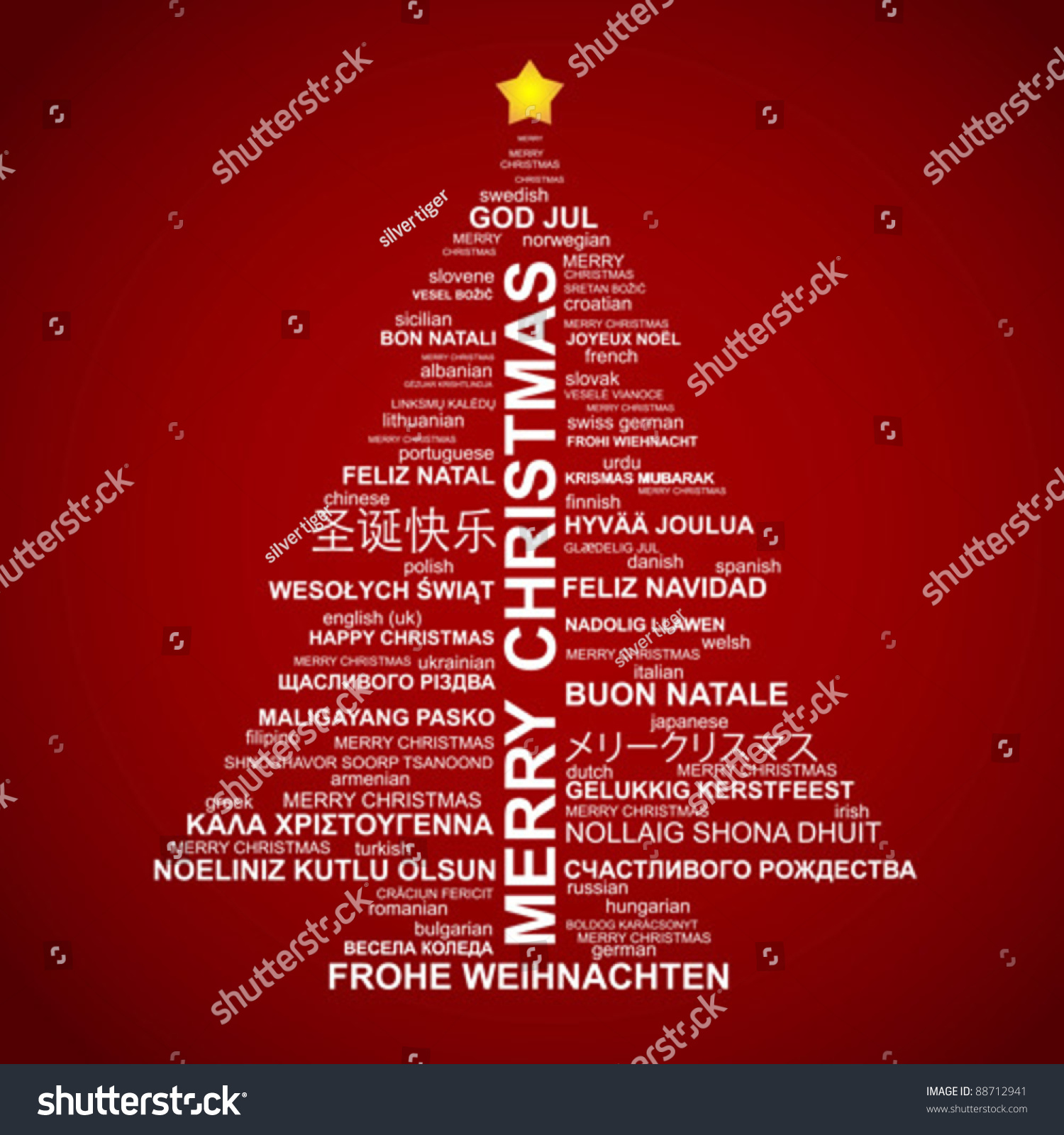 Merry Christmas All Languages Image Mag