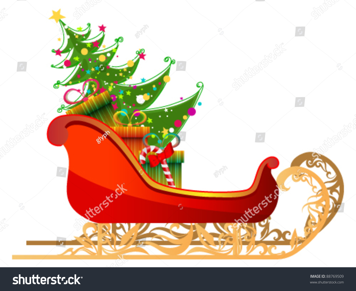 vector beautiful cute detailed illustration santas stock vector