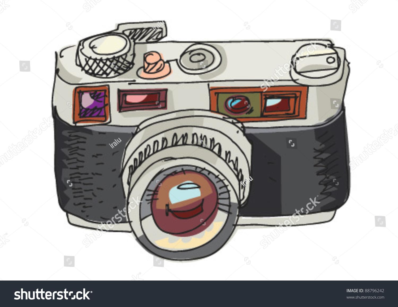 Vintage Photo Camera Cartoon Stock Vector Royalty Free 88796242