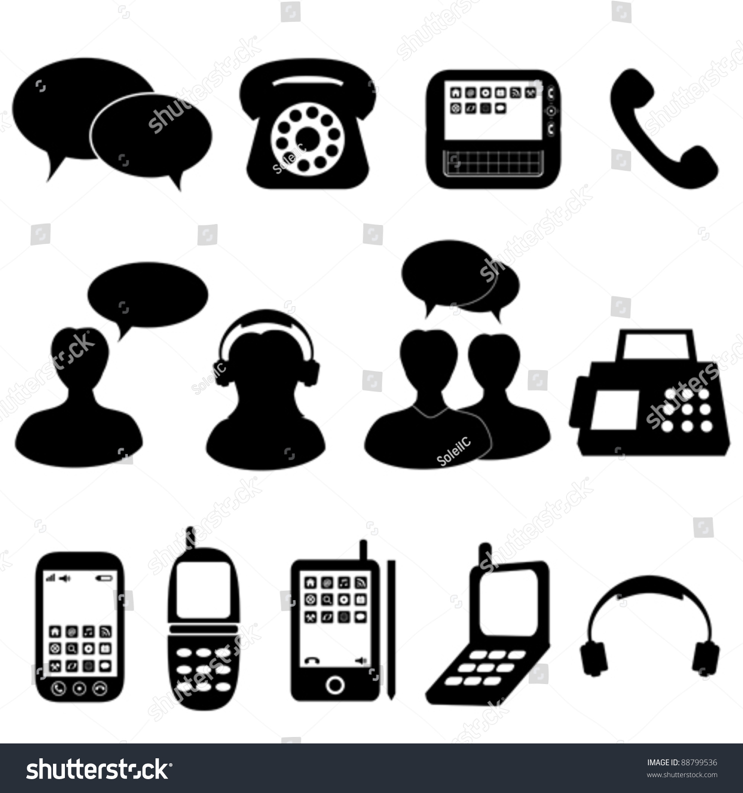 Stock Vector Telephone And
