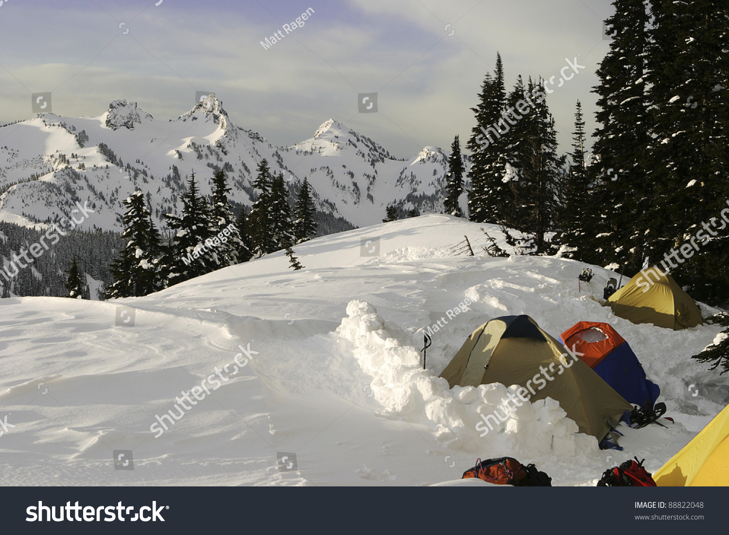 & Group Tents High On Side Mt Stock Photo 88822048 - Shutterstock