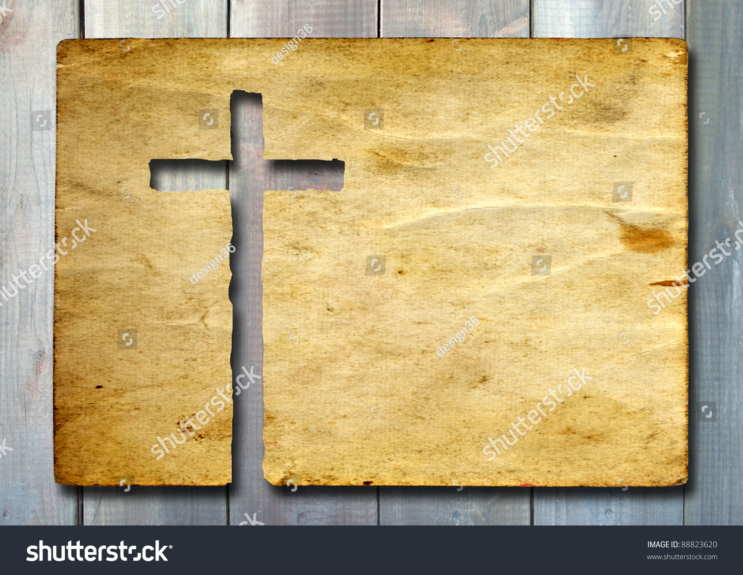 high resolution christian cross cut old stock photo 88823620