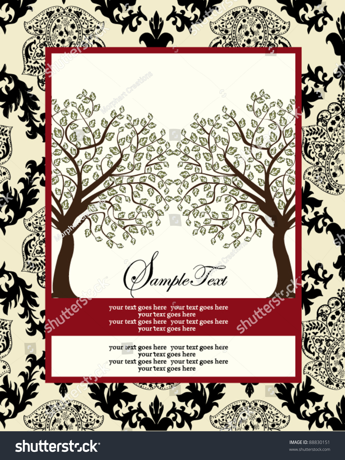 Family Reunion Invitation Card Vector 88830151 Shutterstock – Family Reunion Invitation