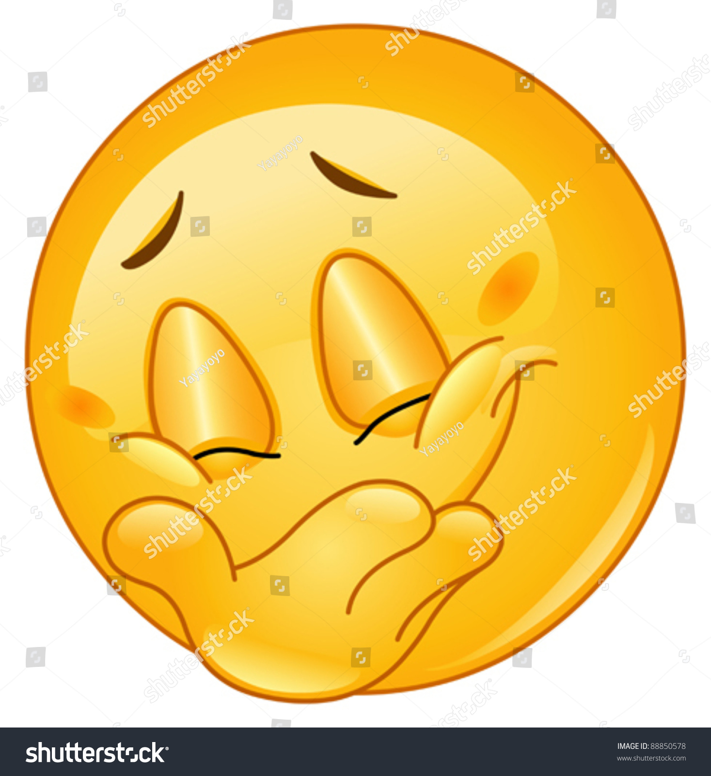 emoticon hiding his smile stock vector 88850578 shutterstock smiley face vector free smiley face vector art free