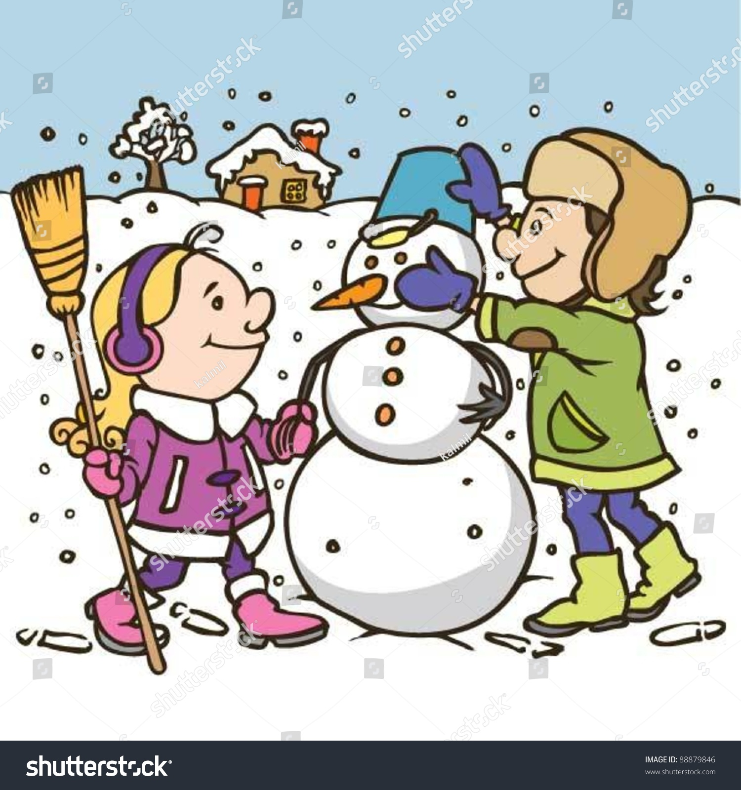 Winter Time coloring page  Free Printable Coloring Pages