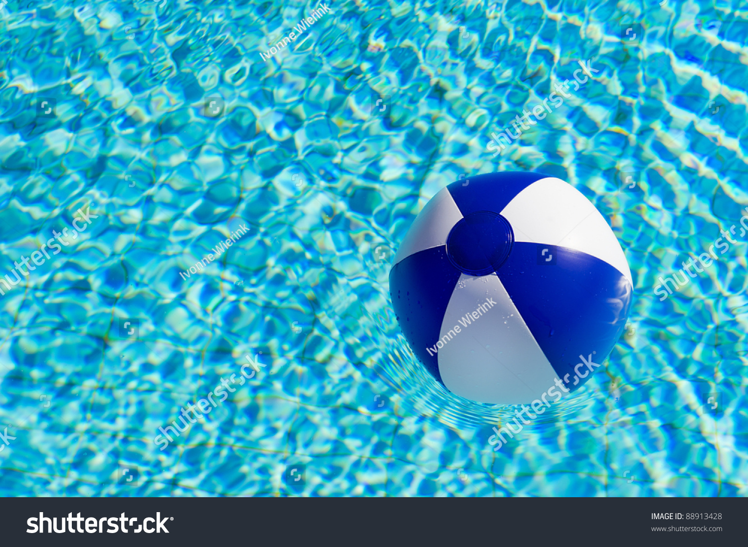 Pool Water With Beach Ball blue white beach ball clear water stock photo 88913428 - shutterstock