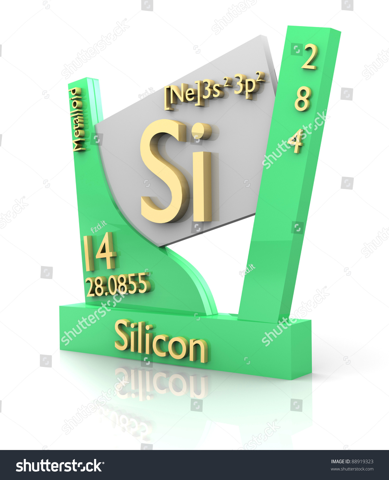 Silicon form periodic table elements 3d stock illustration silicon form periodic table of elements 3d made gamestrikefo Gallery