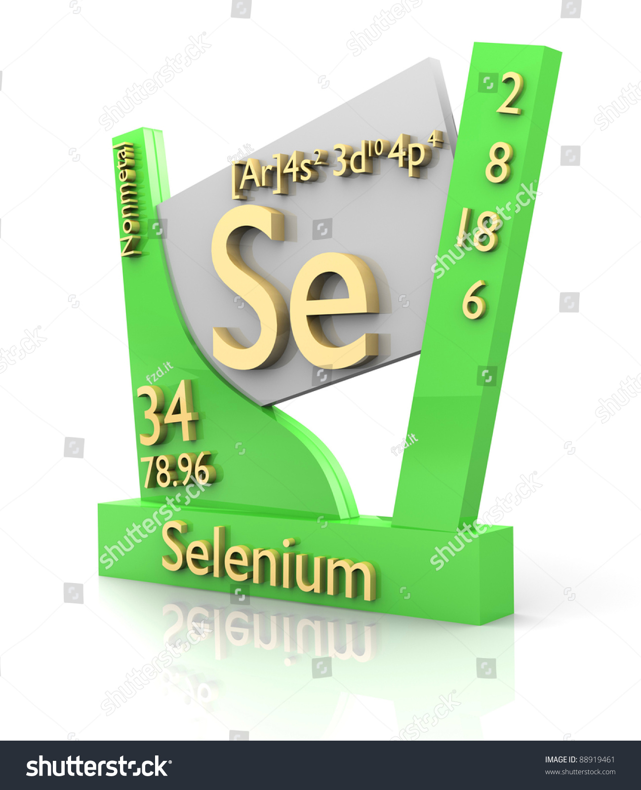 Selenium form periodic table elements 3d stock illustration selenium form periodic table of elements 3d made gamestrikefo Images