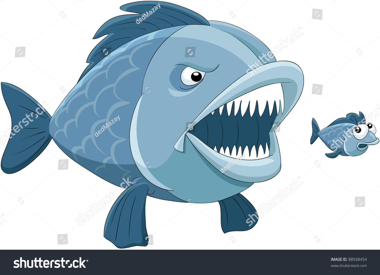 Big fish eats little fish raster stock photo 88938454 for Big fish eat small fish