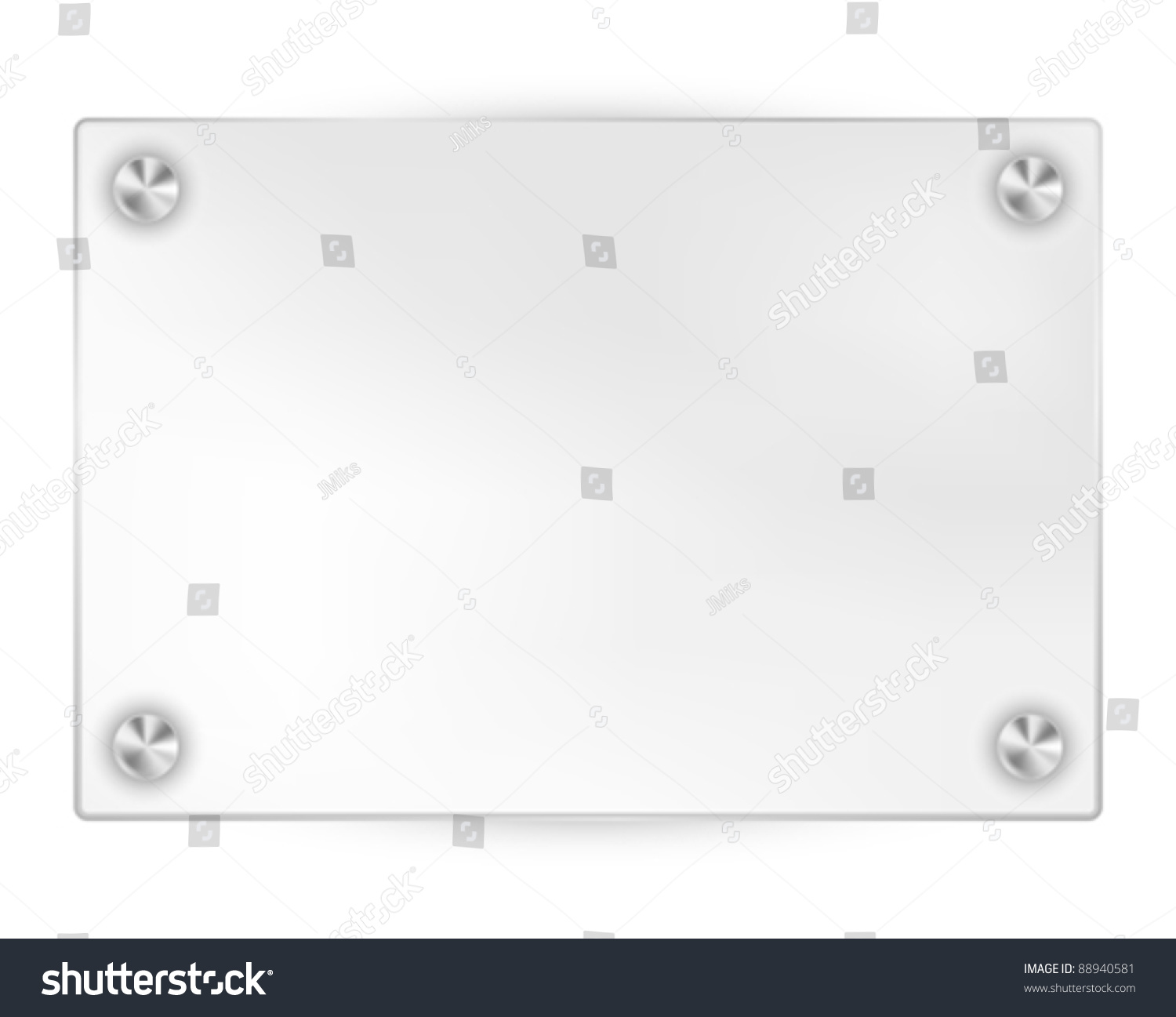 transparent blank frame on white background
