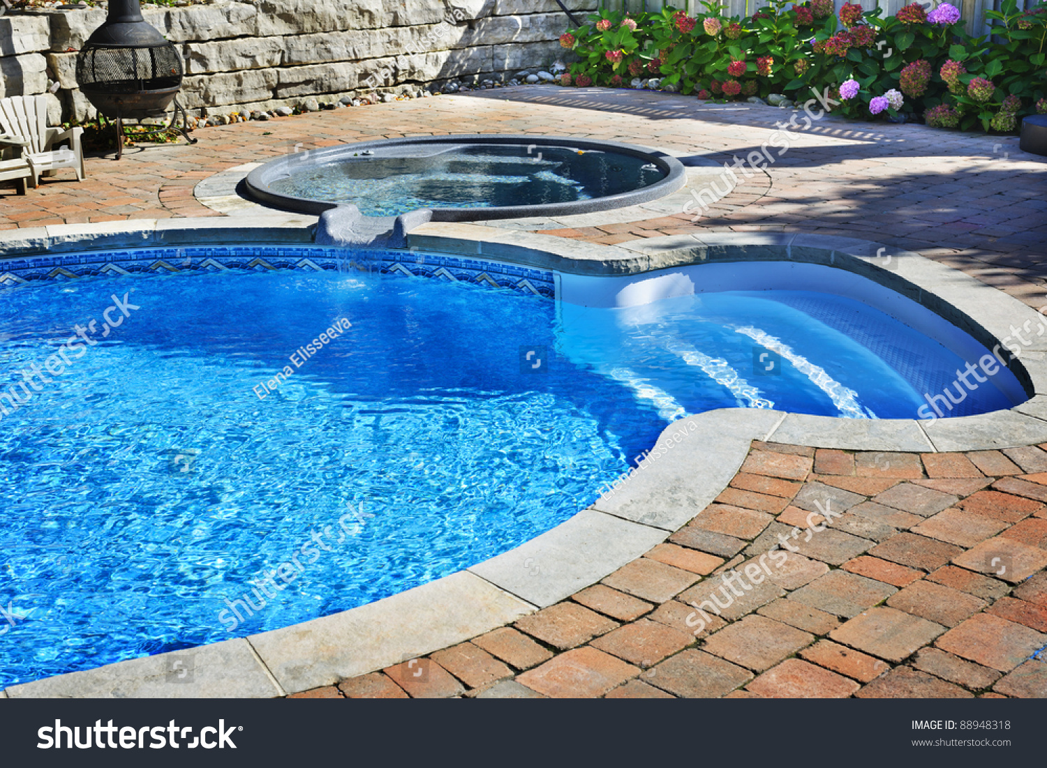 Outdoor Ground Residential Swimming Pool Backyard Stock Photo 88948318 Shutterstock