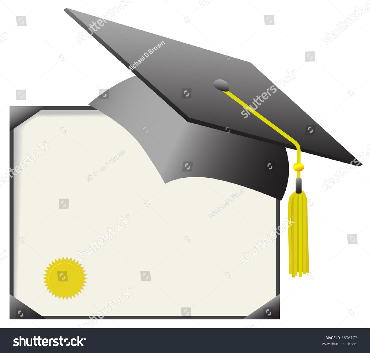 Cap Gown Day Gray Mortar Board Stock Vector (Royalty Free) 8896177 ...