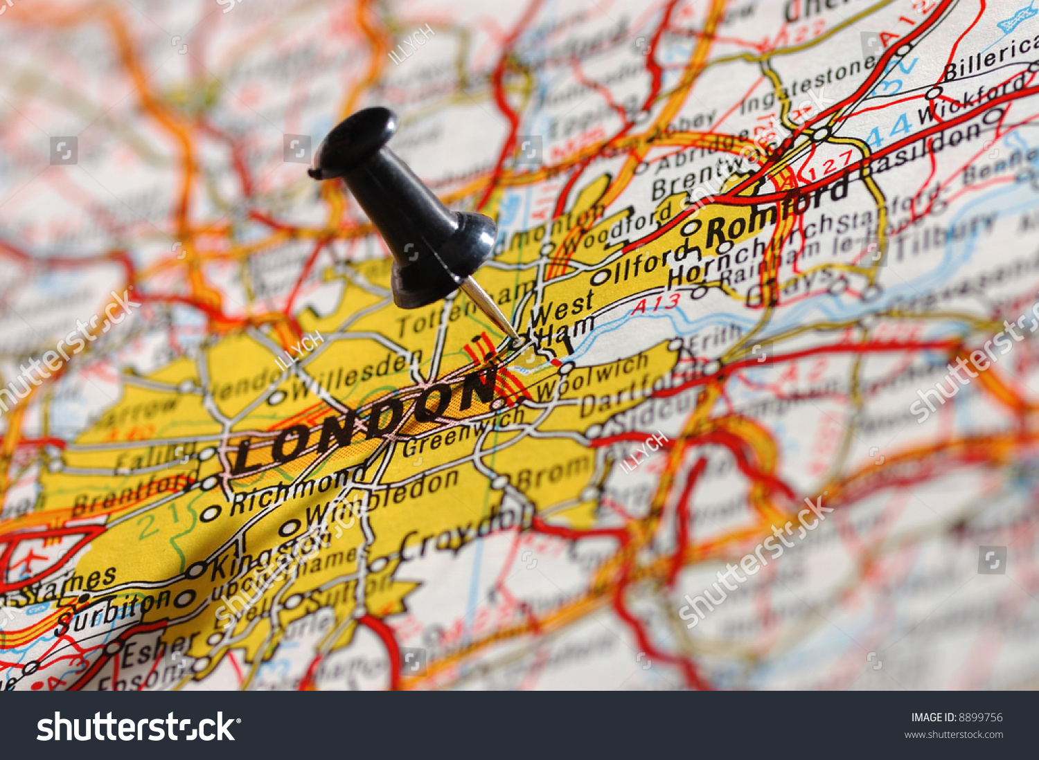 travel to england on a map london