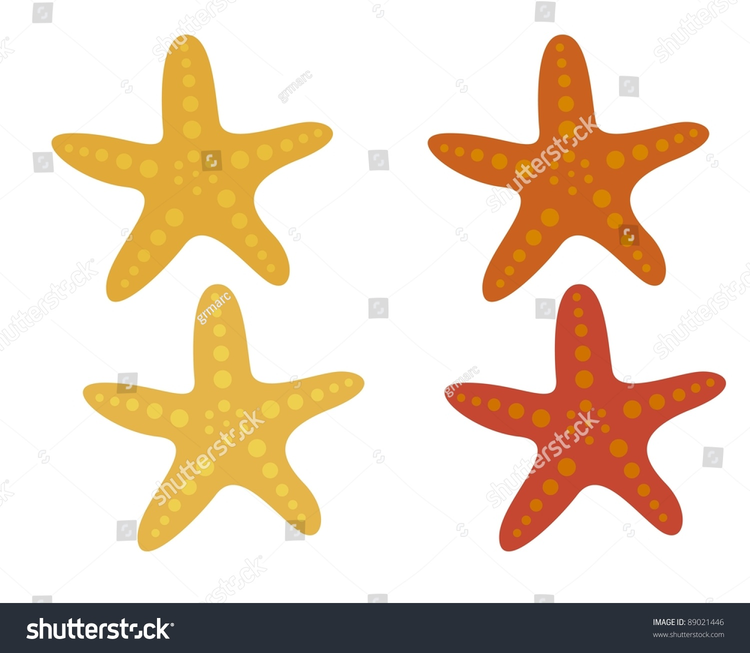 starfish cartoon isolated over white background stock vector