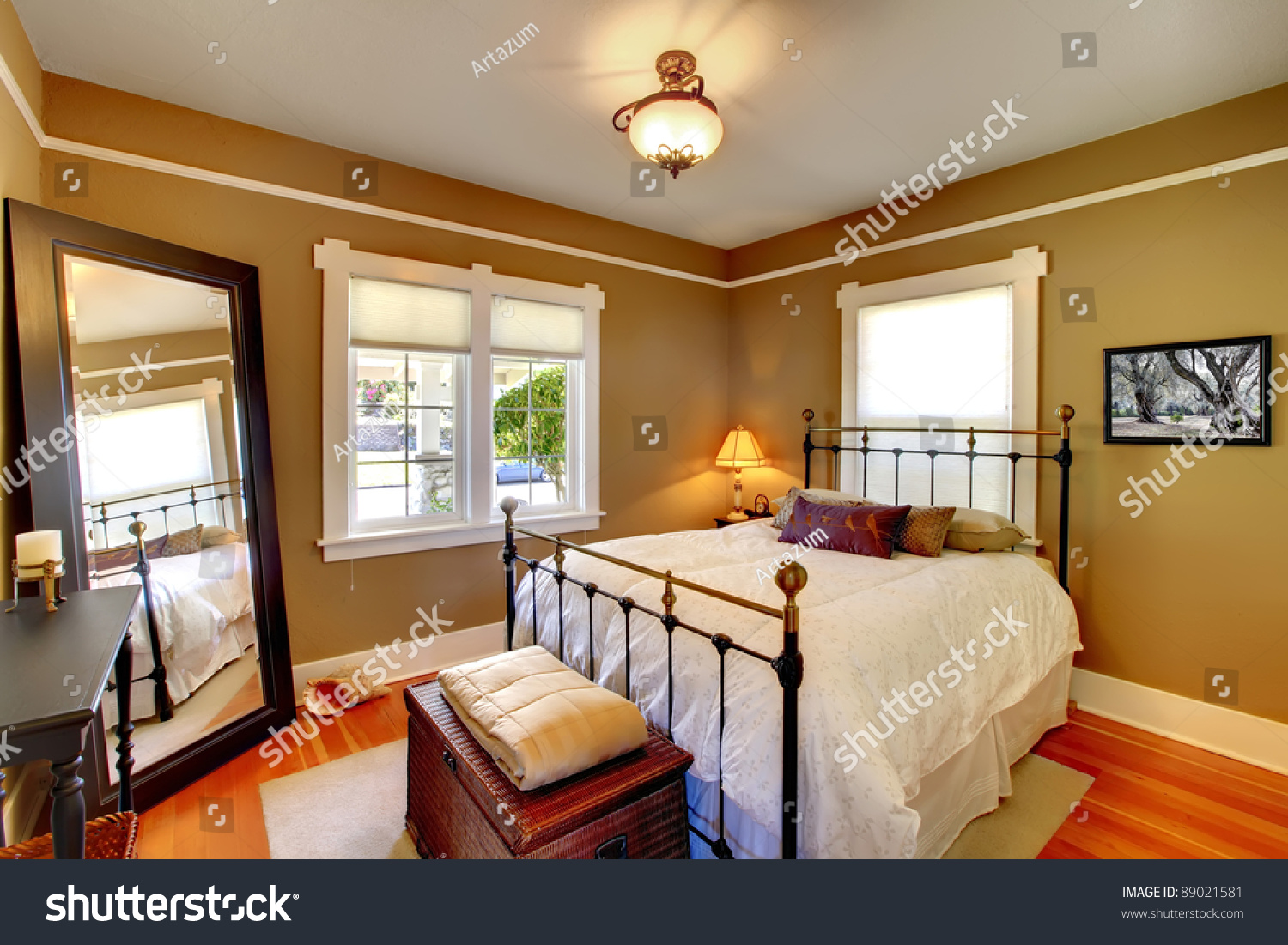 Bedroom interior house design stock photo 89021581 for Interior designs of the house