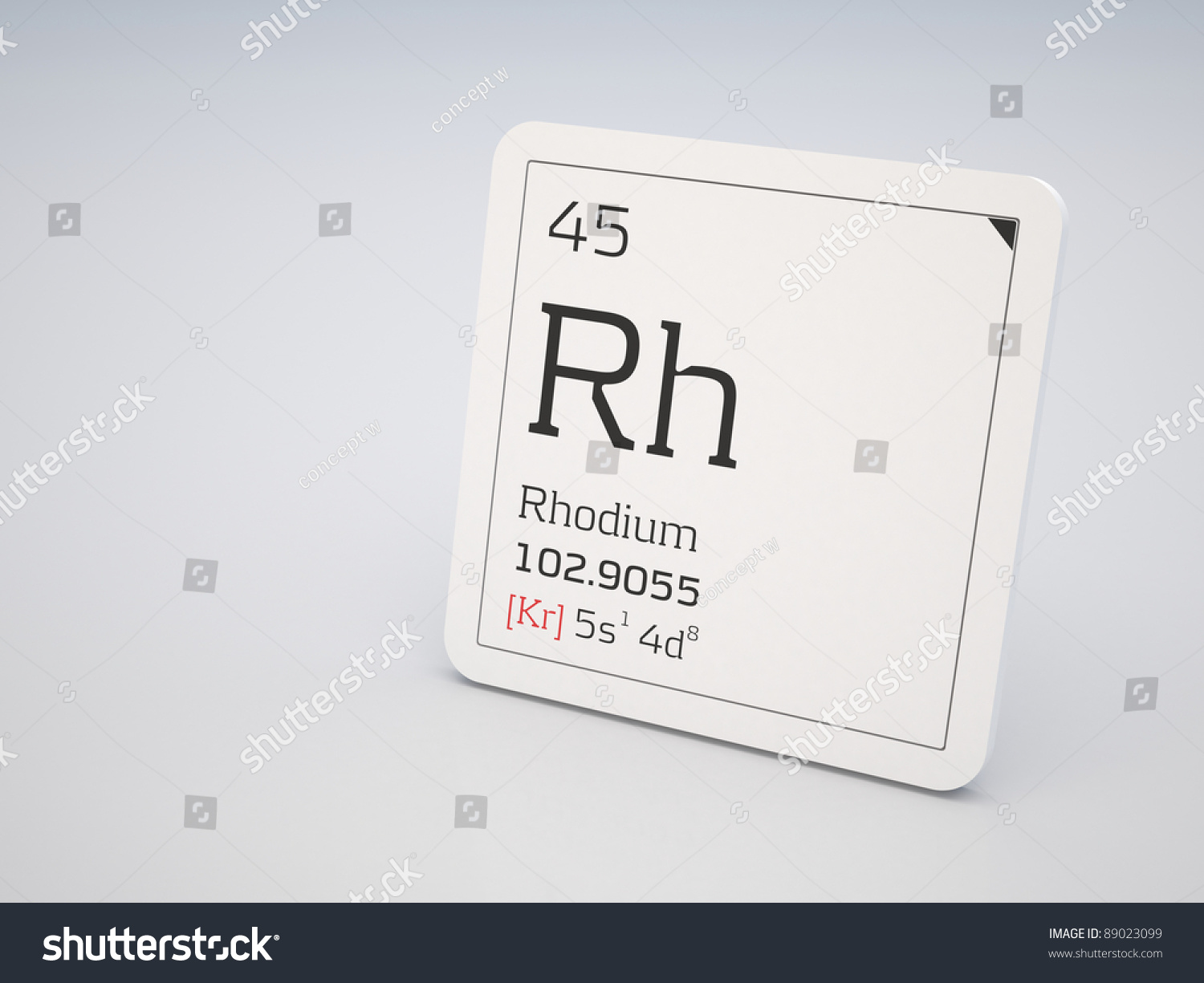 Rhodium element periodic table stock illustration 89023099 rhodium element of the periodic table gamestrikefo Image collections