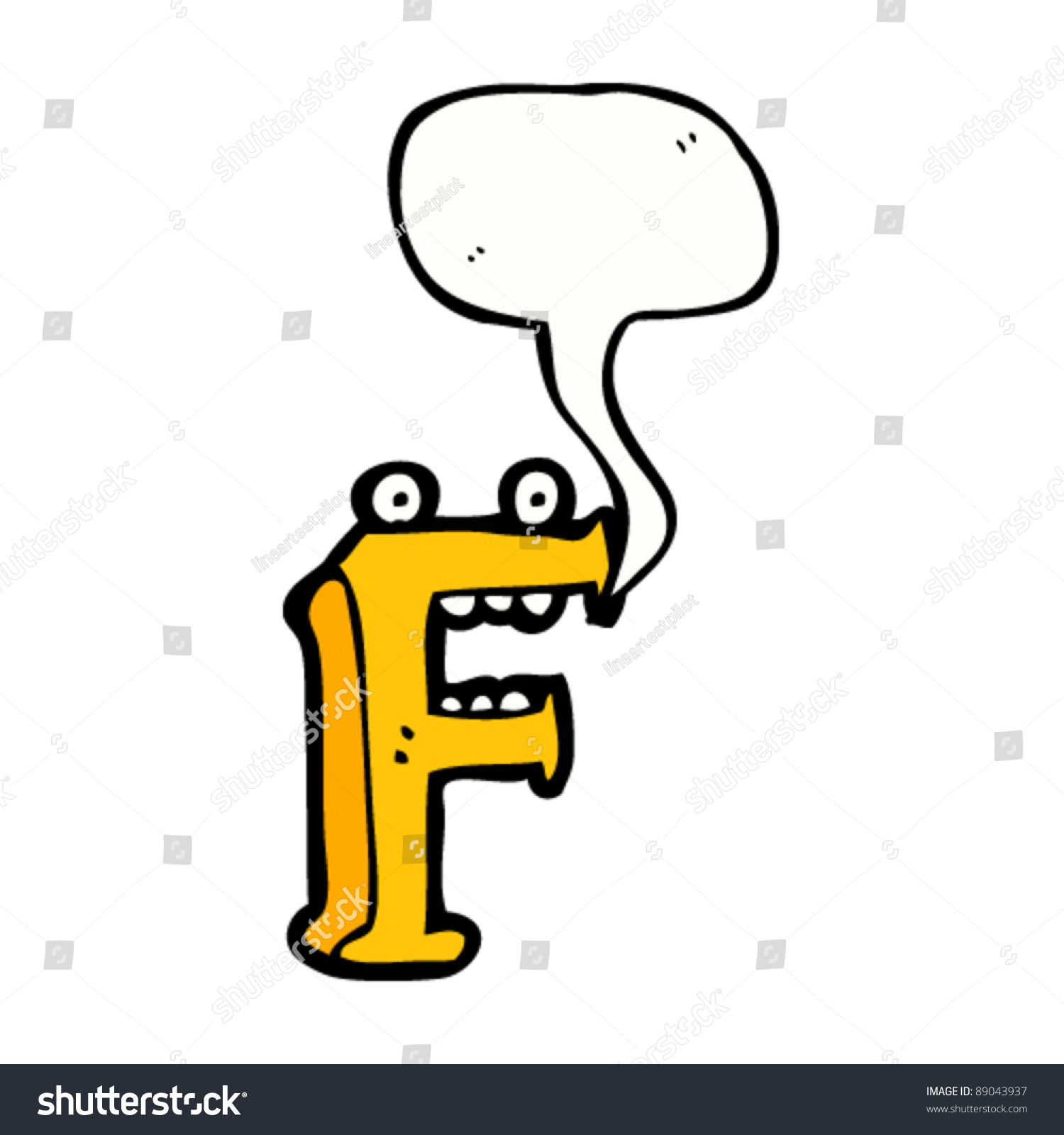 Cartoon Characters Letter Z : Cartoon character letter f stock vector illustration