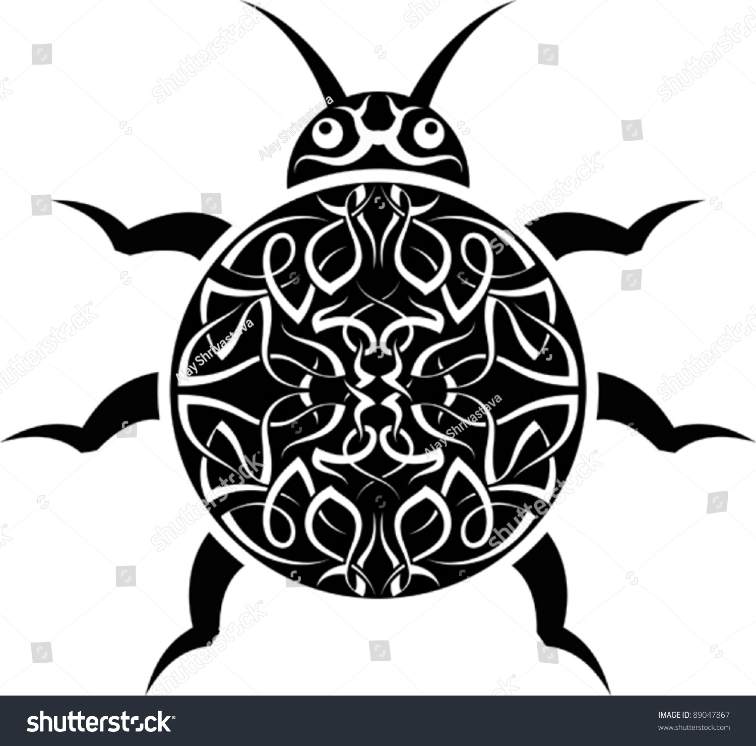 ladybug vector hawaii tattoo -#main