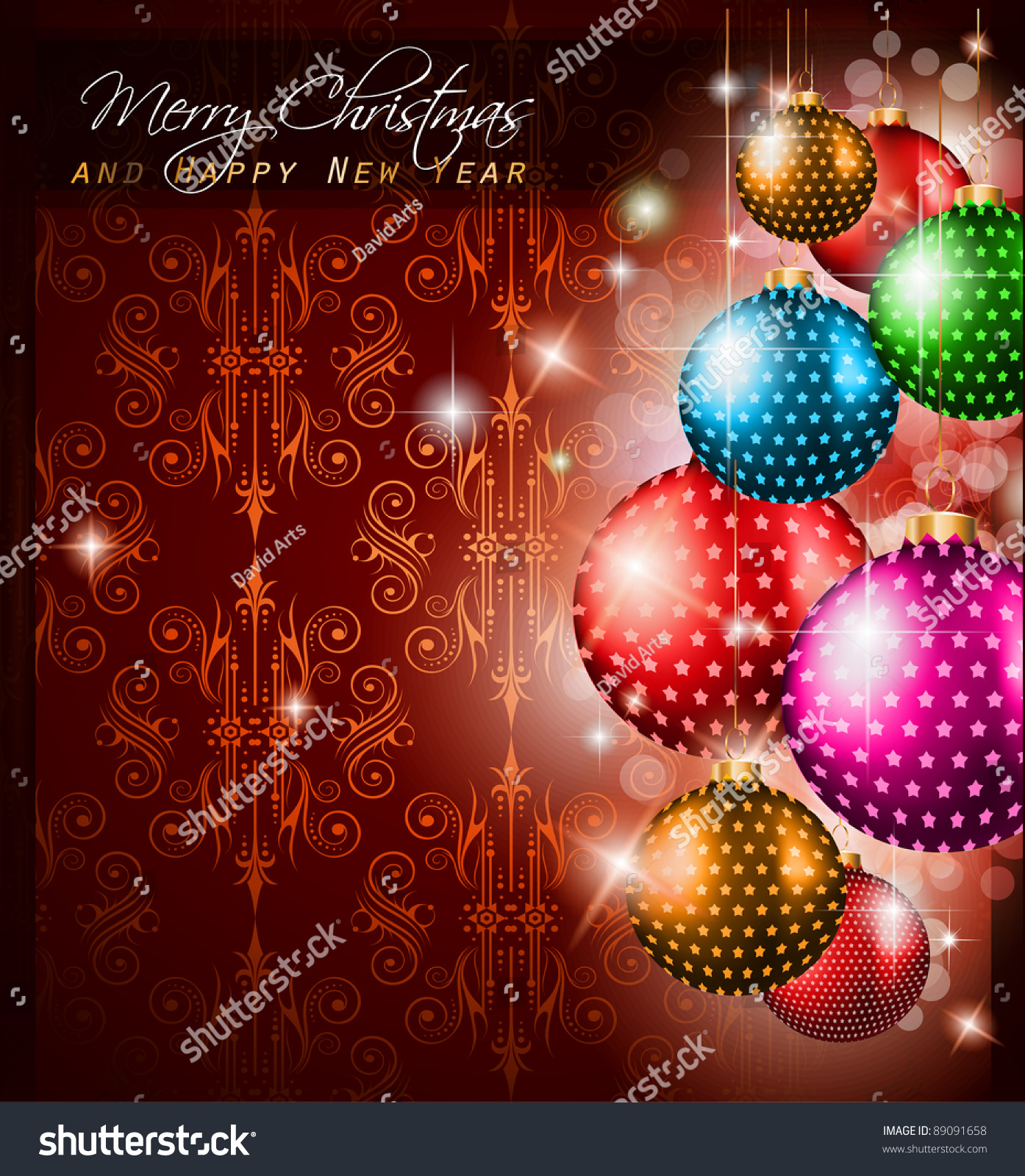 Elegant classic christmas greetings background flyers stock elegant classic christmas greetings background for flyers invitations cards or posters new baubleswith m4hsunfo