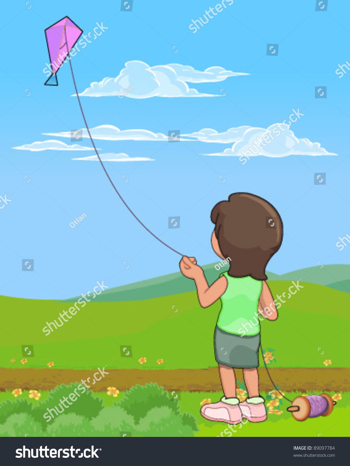 flying kite illustration - photo #23