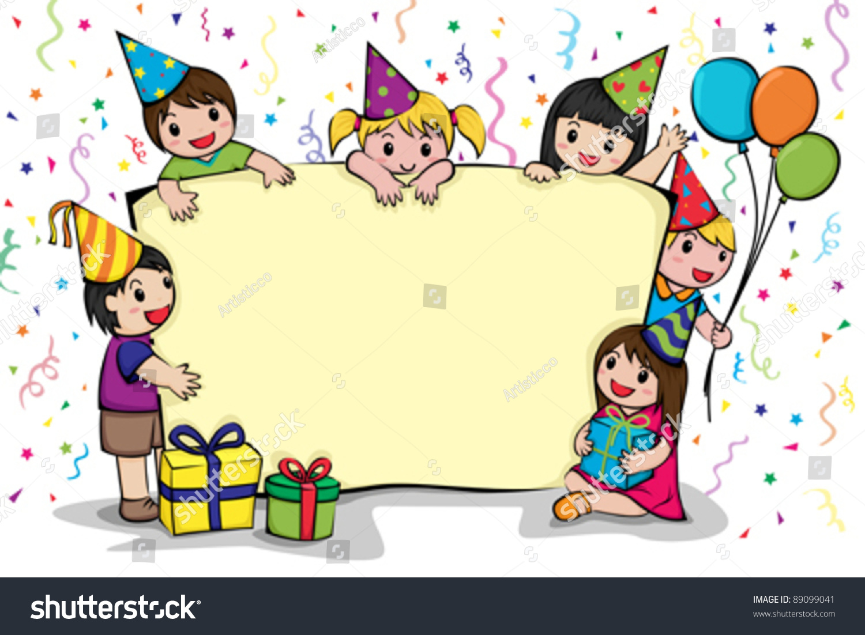 Vector Illustration Birthday Party Invitation Card Stock Vector ...