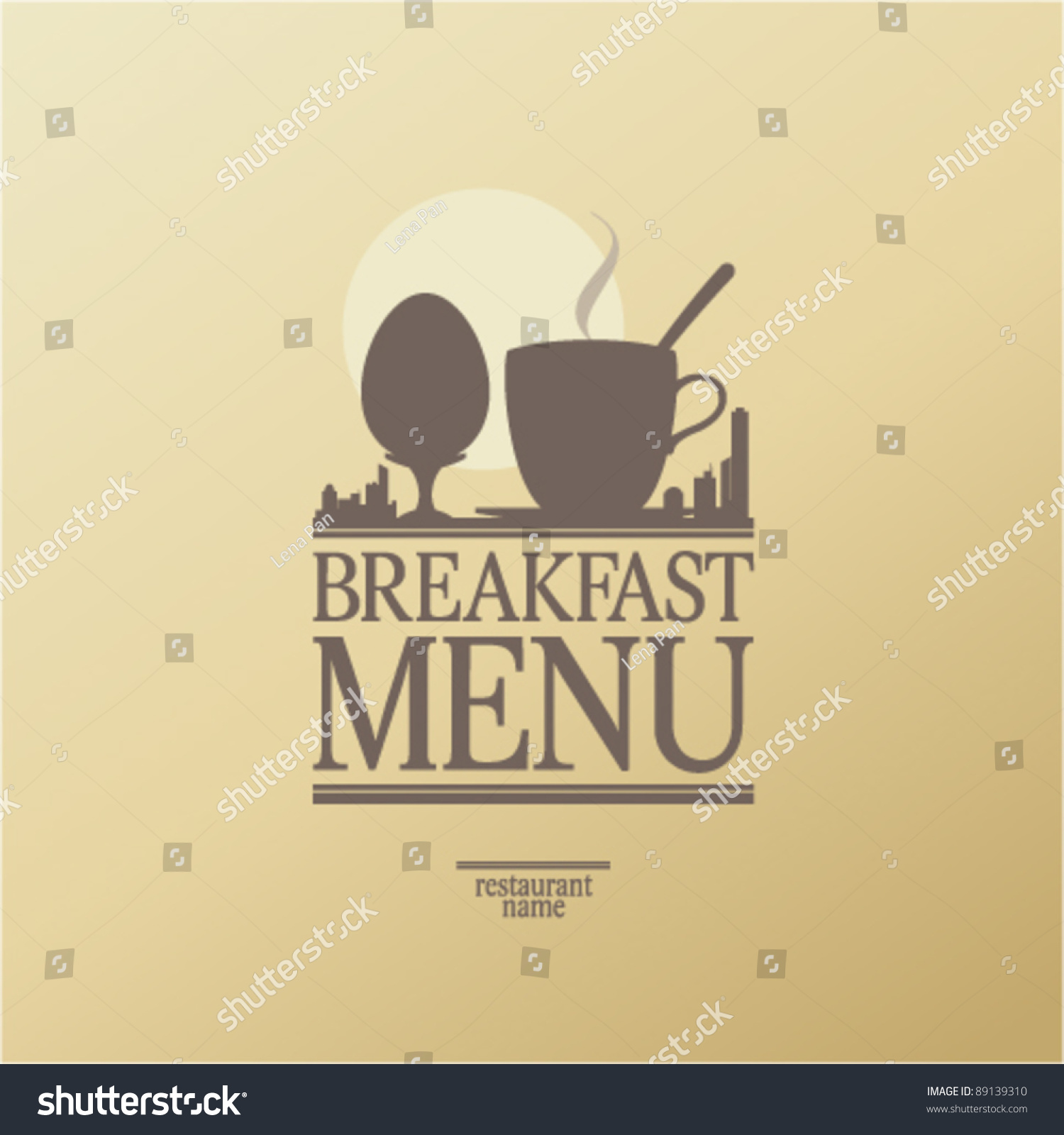 Breakfast Menu Card Design Template Vector 89139310 – Breakfast Menu Template