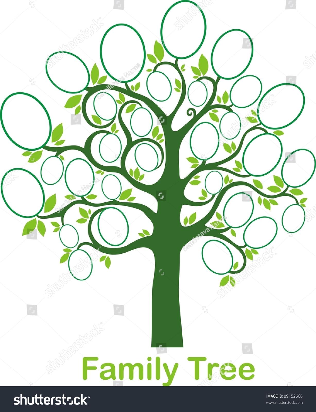 Family tree clipart vector