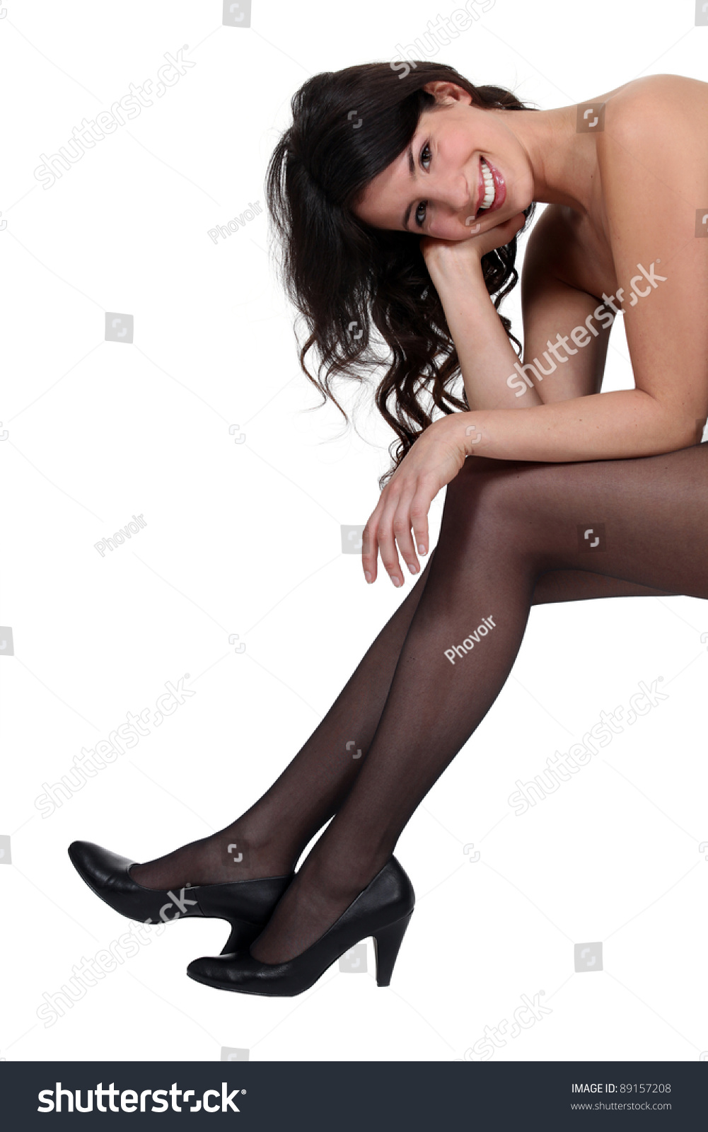 Nude Woman Wearing High Heels Stock Photo 89157208 - Shutterstock