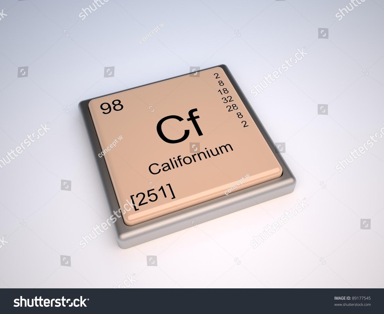 Californium element periodic table stock illustration 89177545 californium element of the periodic table gamestrikefo Images