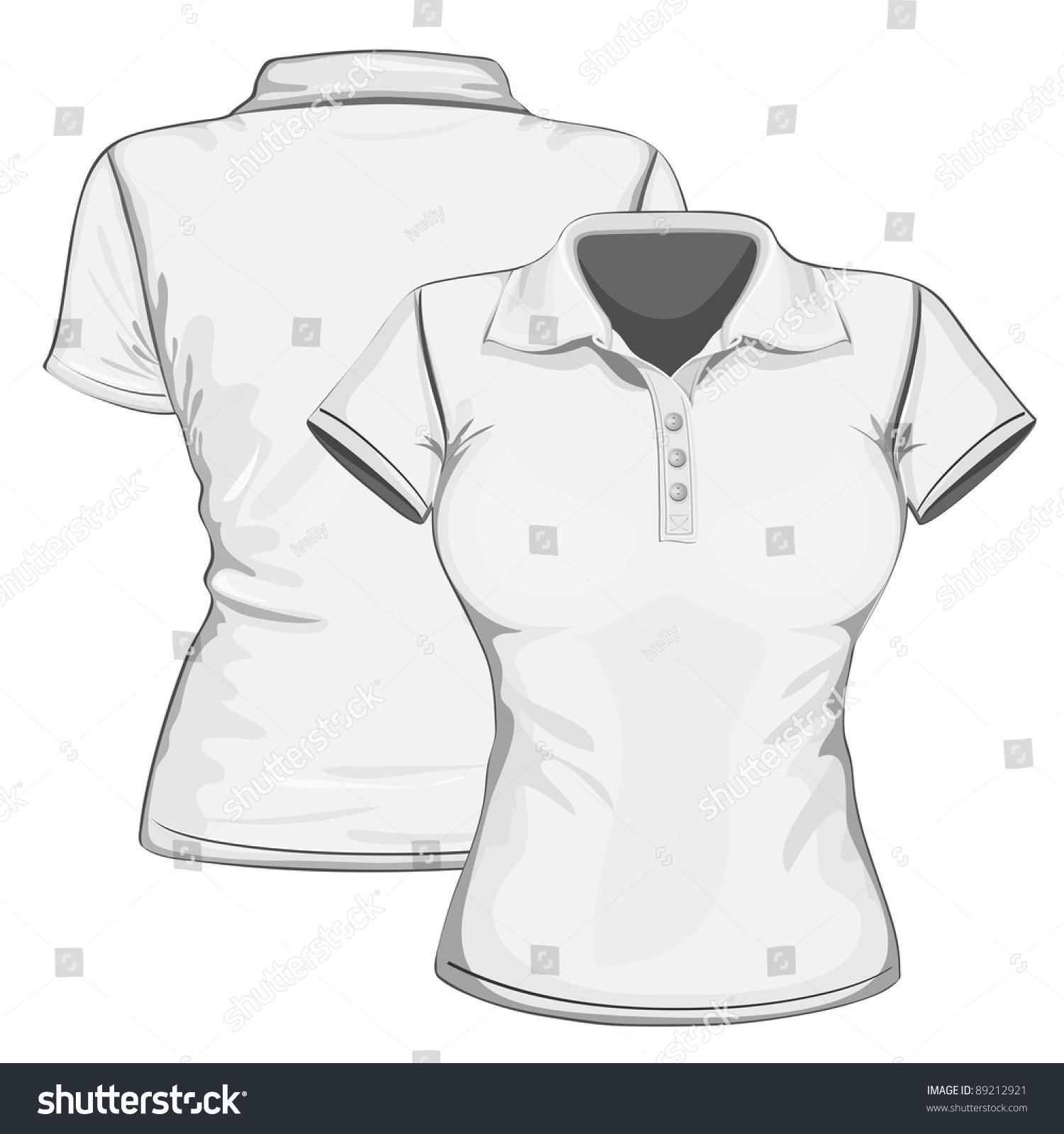 Polo shirt design vector - Vector Women S Polo Shirt Design Template