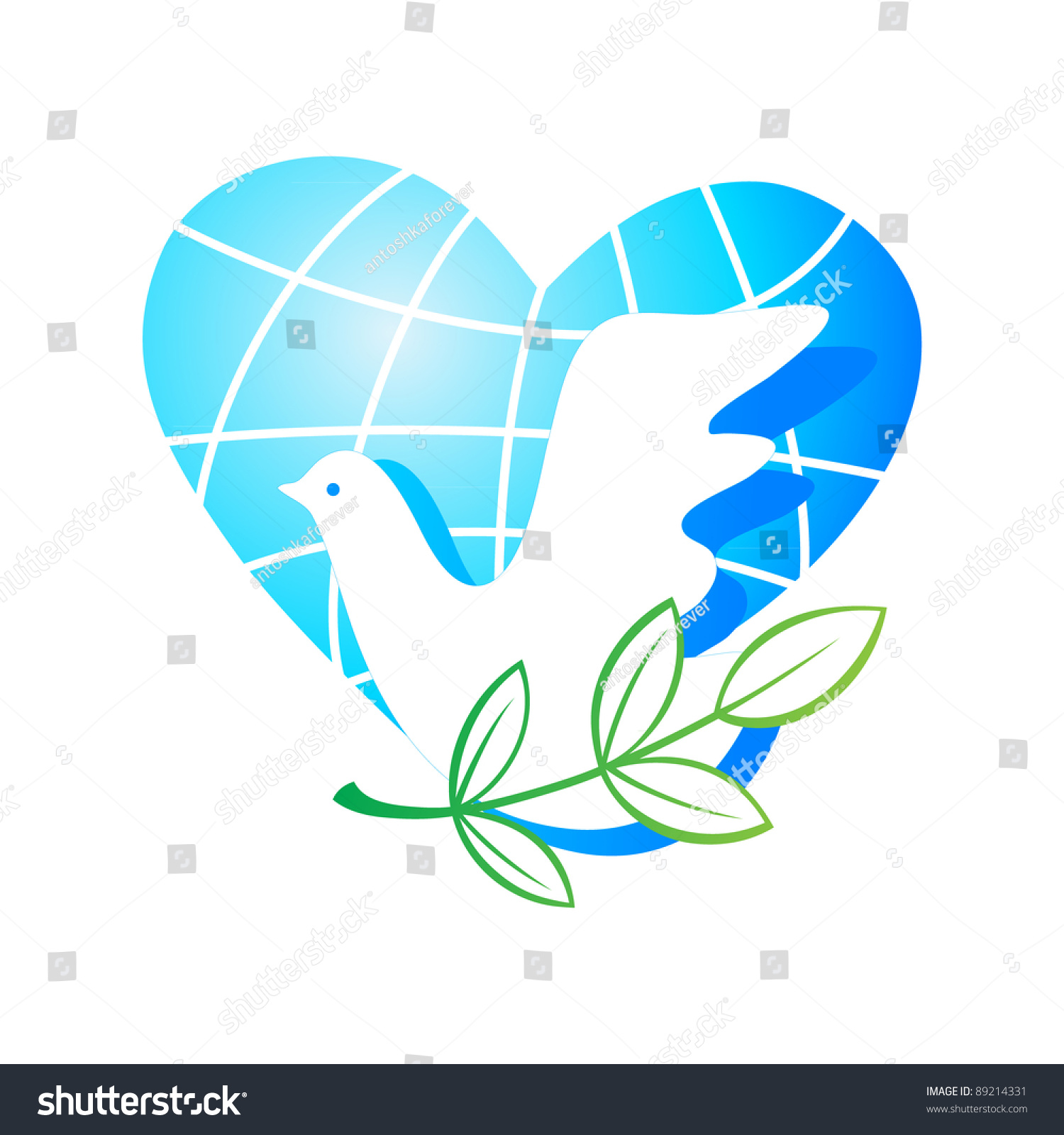 Peace on earth traditional symbols planet stock vector 89214331 peace on earth the traditional symbols the planet of a heart a dove biocorpaavc Images