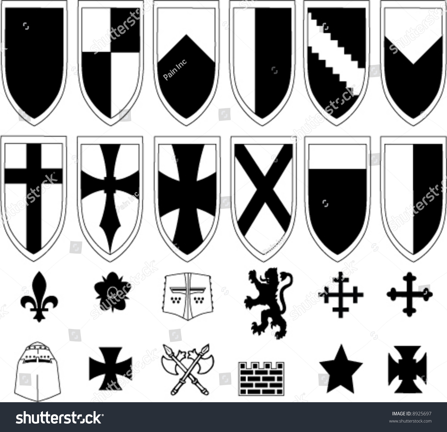 Shields emblems create your own logo stock vector 8925697 for Draw my own logo