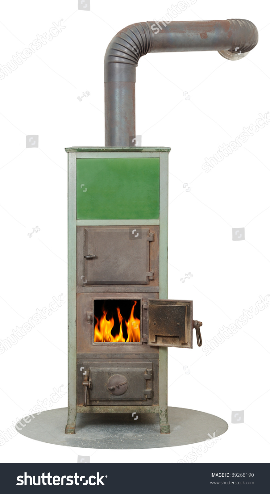 Wood And Coal Fired Burning Masonry Heater Stove Stock