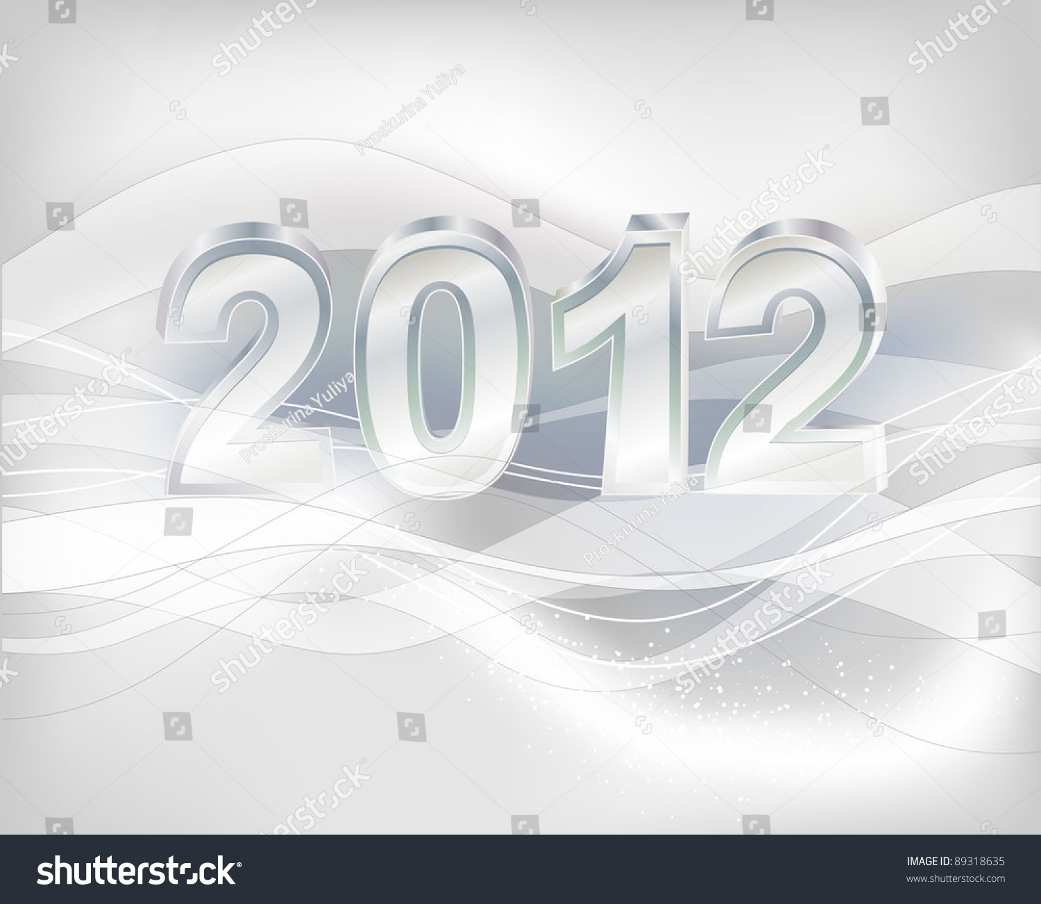 Beautiful Vector New Year And Chritsmas Illustration - 89318635 ...