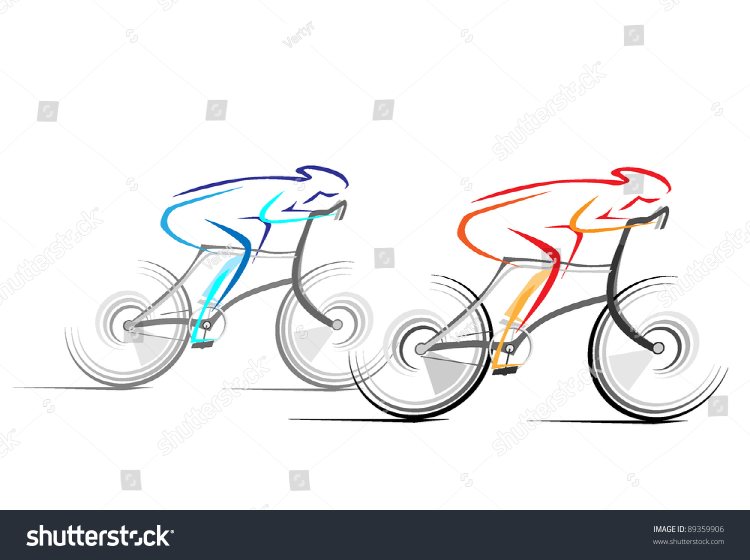 Vector Drawing Lines Html : Abstract vector drawing bicycle races in line style