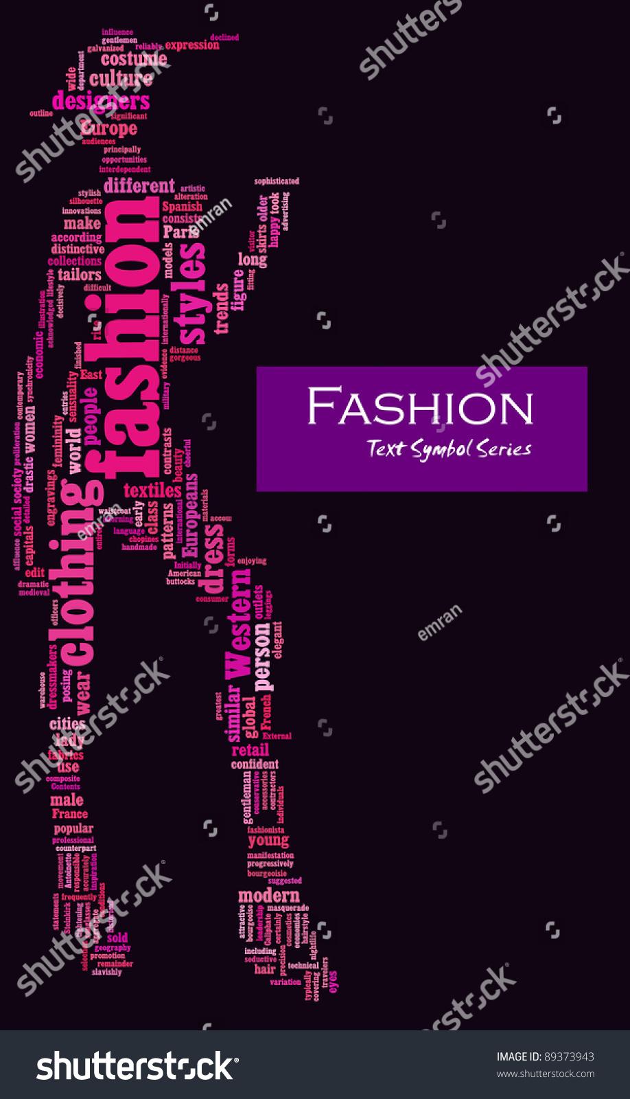 Fashion Info Text Composed Shape Female Stock Illustration 89373943