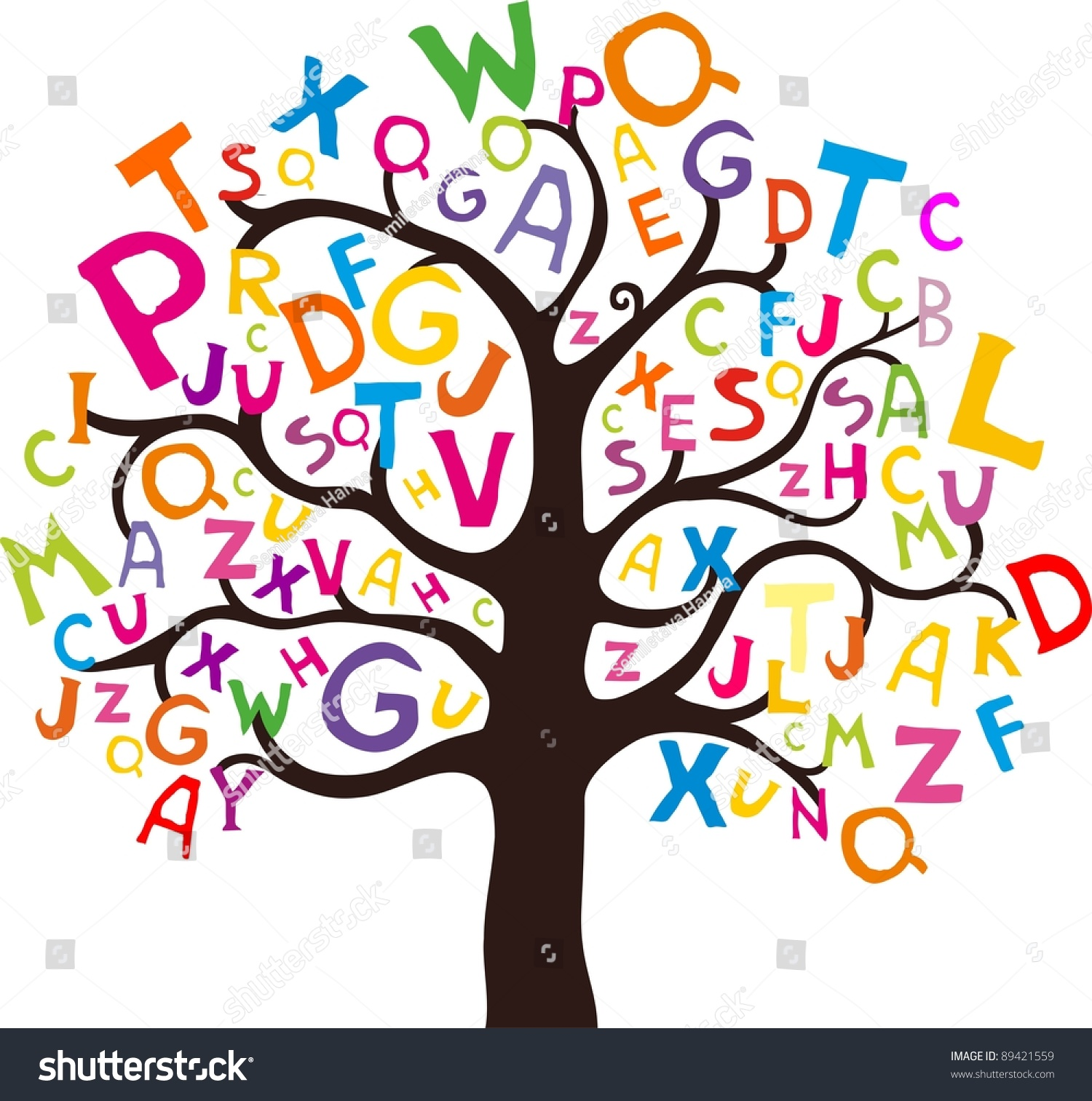 abstract tree colorful letters isolated on stock announcement clipart images announcement clipart free
