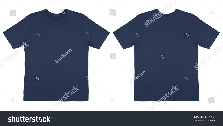 Black t shirt plain front and back - Flat Lay Down Isolated Image Of T Shirt Front And Back View