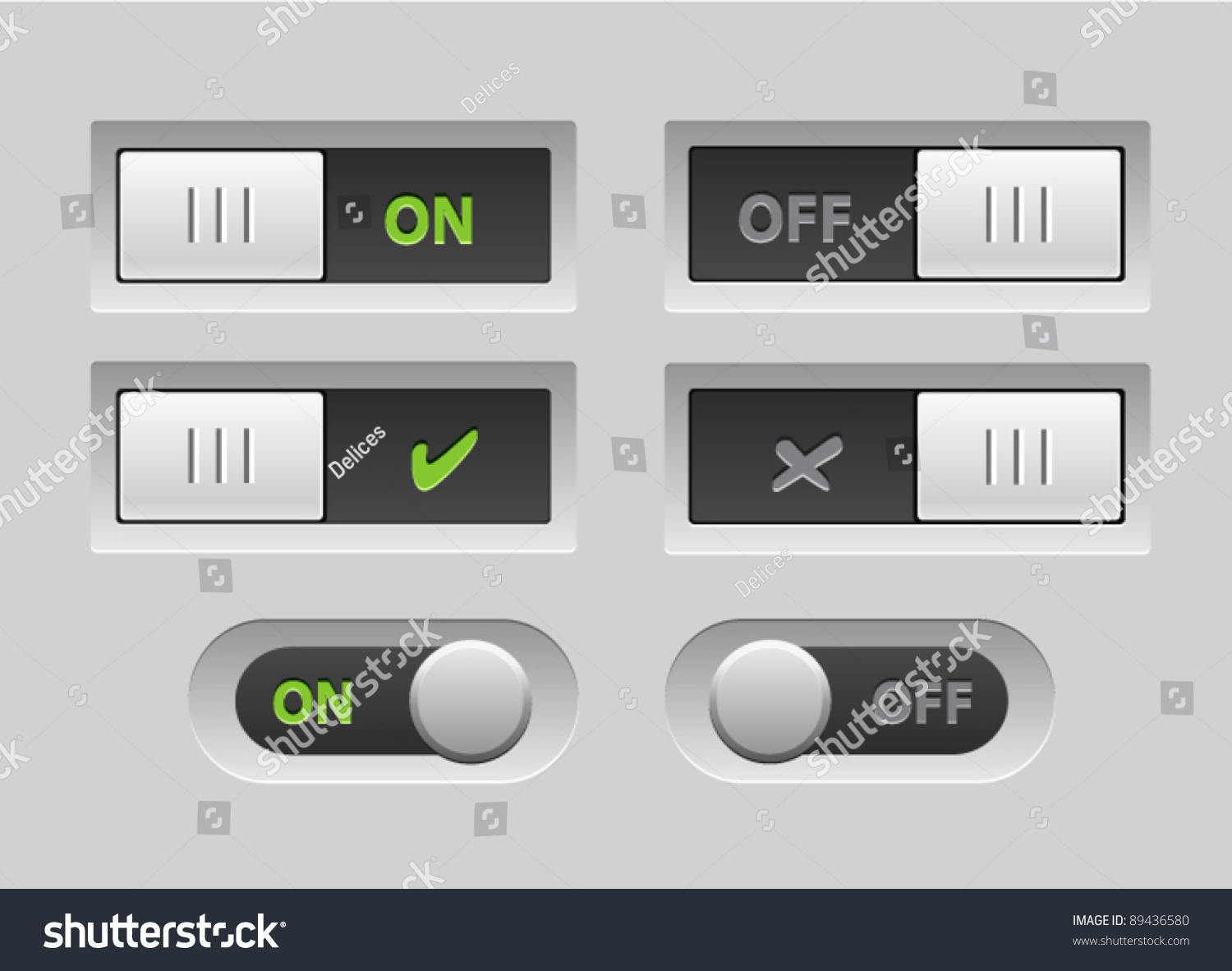 Vector Realistic Toggle Switch ONOFF Round Stock Vector (Royalty ...